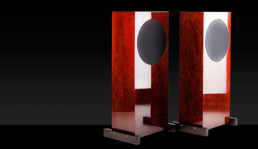 Soundstage wooden tower speakers